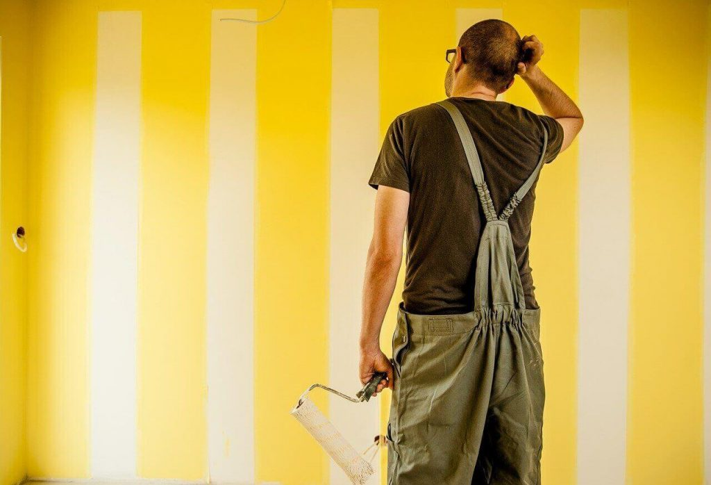 painting the wall in a property